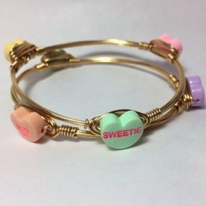 Jewelry - Conversation Hearts Candy Bracelet—Handmade